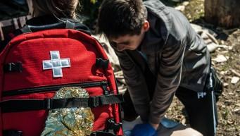 apteczka pierwszej pomocy, plecak medyczny, dzieci pierwsza pomoc